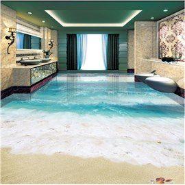 3d Simple And Clear Sea Water Pattern Waterproof Nonslip Self Adhesive Blue Floor Art Murals Epoxit Boden 3d Bodenbelag Blauer Boden