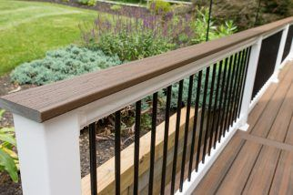 A Capped Composite Deck Built From Trex In Spiced Rum With
