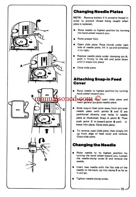 Bernina  Record Sewing Machine Instruction And Owners Manual