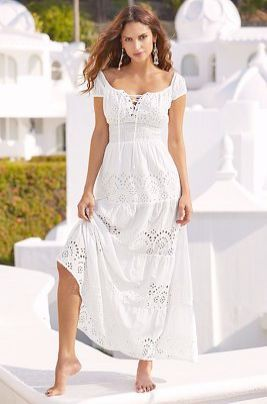 48a1cb7bb2a Wonderful... Cute Maxi Dress Outfit Ideas #great | λευκά φορέματα ...