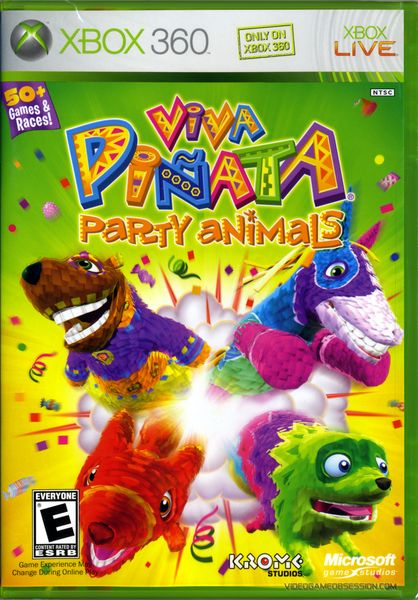 Viva Pinata Party Animals Xbox 360 Disc Only Animal Party Xbox 360 Game Sales