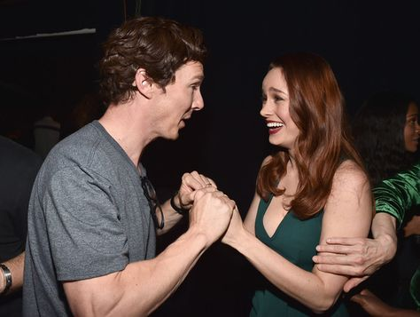 Benedict Cumberbatch and Brie Larson attend the San Diego Comic-Con.