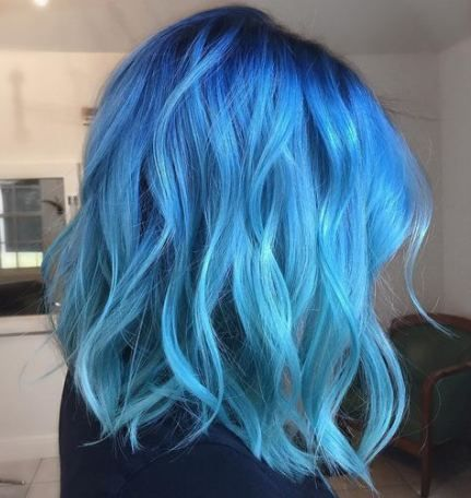 18 New Ideas For Hair Short Blue Beautiful Hair Styles Blue Ombre Hair Dyed Hair Blue