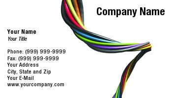 Twisted Colorful Wire In White Background Suitable For Electronic Electrician Wiring Industry Electrician Electrician Wiring Company Names