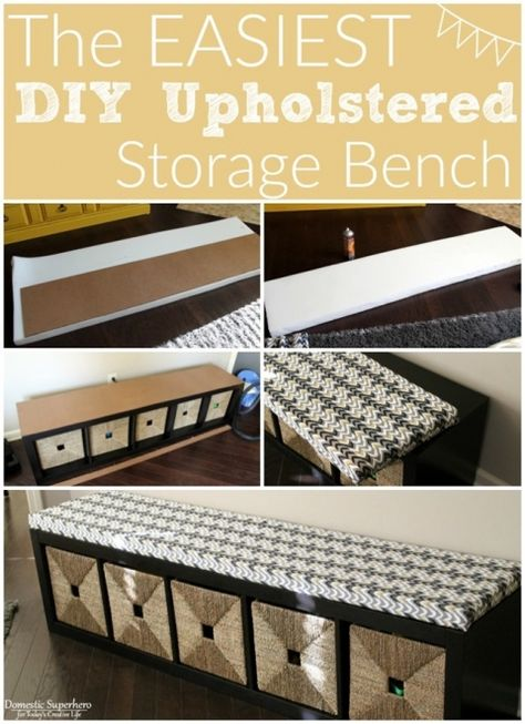 Swell The Easiest Diy Upholstered Bench Diy Upholstered Storage Creativecarmelina Interior Chair Design Creativecarmelinacom