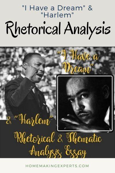 Harlem And I Have A Dream Essay Rhetoric Middle School Literature Ap Language Composition Analysi