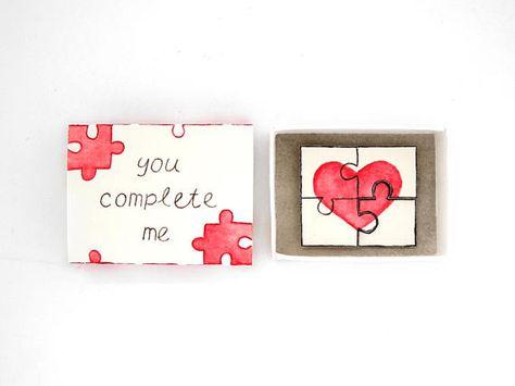 Sie komplett mir Streichholzschachtel Karte Liebe Mail