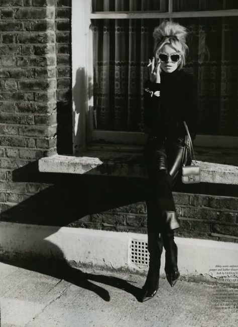 Leather was always a sexy fashion statement! Check out this picture of Brigitte Bardot!