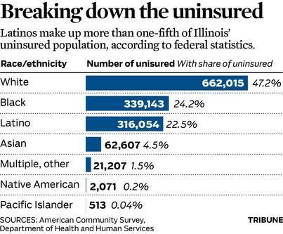 Demographics Of The Uninsured In Illinois Uninsured Illinois
