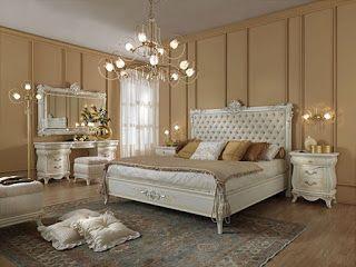 ديكور غرف نوم رئيسية 2019 فخامة واناقة غرفة نوم فخمة اوف وايت Furniture Luxurious Bedrooms Living Room Style