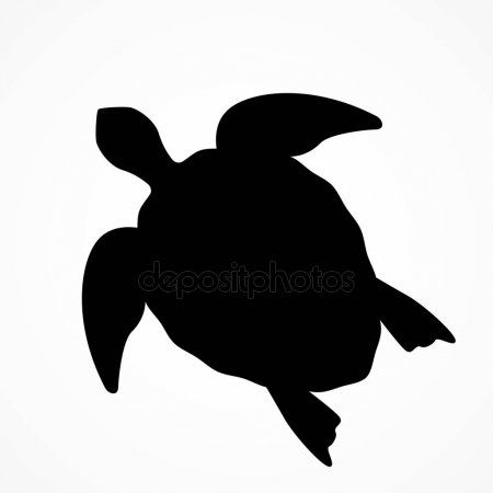 Top View Of A Large Sea Turtle Black Silhouette Of A Turtle Stock Vec Ad Large Sea Top Vie Largest Sea Turtle Turtle Silhouette Black Silhouette