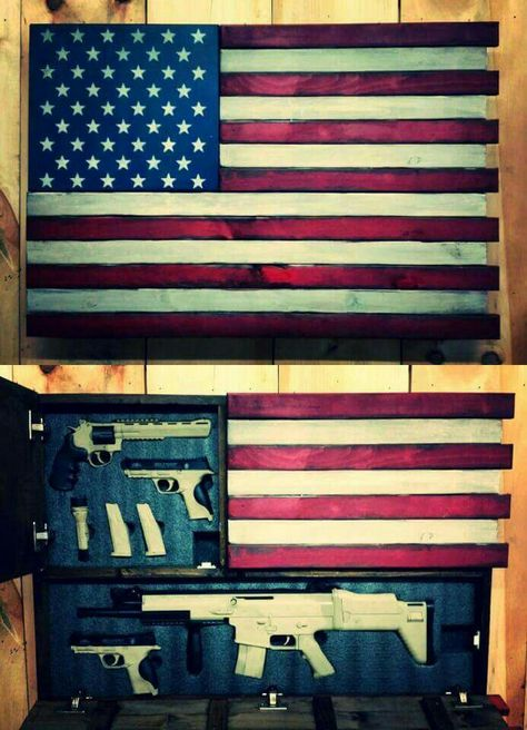 Deluxe Home Defense Concealment Flag Model (Dual Handgun and Rifle Compartments) www.roughcountryrusticfurniture.com