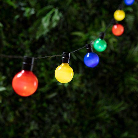 Guirlande Guinguette Solaire 16 Globes Multicolores Led Deco Jardin Pas Cher Guirlande Electrique Exterieur Decoration Jardin
