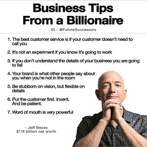 Business Tips from a Billionaire - Jeff Bezos | #business #startups #entrepreneurship #leadership #billionaire #success #quotes source: unknown