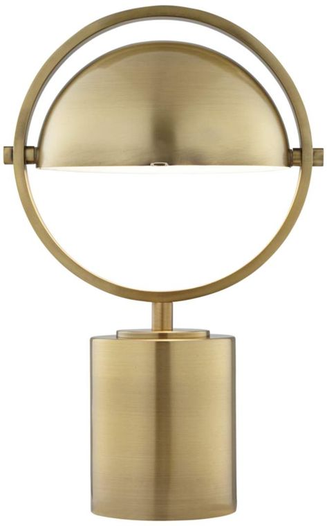 Space Age Industrial Accent Table Lamp