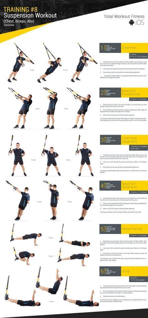 Znalezione Obrazy Dla Zapytania Training 8 Suspension Workout Trx Ejercicios Entrenamientos Trx Rutinas De Entrenamiento