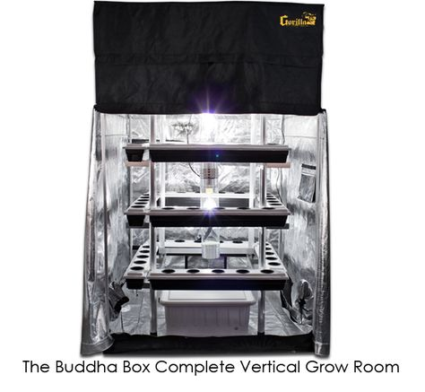 Supercloset 5x5 Buddha Box 400w Hydroponic Grow Tent System. Vertical SCROG net trellis allows for proper plant management for effective verticalu2026  sc 1 st  Pinterest & Supercloset 5x5 Buddha Box 400w Hydroponic Grow Tent System ...