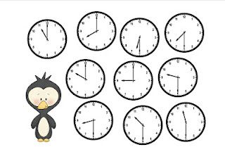 The Wonderful World of First Grade!: Winter Telling Time Bump