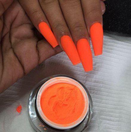 Flamy Ombre Nail Art Orange Nails Orange Nail Art Orange Ombre Nails