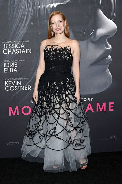 Actress Jessica Chastain attends the 'Molly's Game' New York Premiere.