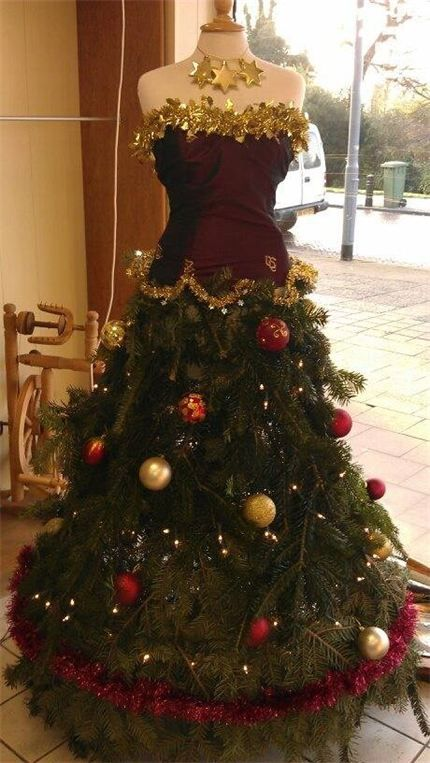 dress form trees - Google Search | Dress Form Christmas Trees ...