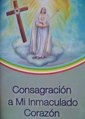 Consagracion A Mi Inmaculado Corazon Dado A Agustin 33 Dias Inmaculada Jesus Jose Y Maria Frases Bonitas De Amistad
