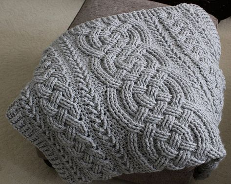 Irish Lullaby Cable Braided Blanket - Share a Pattern - Free Crochet Pattern - Share a Pattern