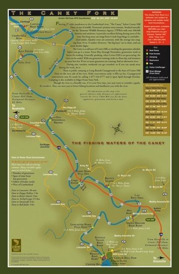 Trout Fishing In Tennessee Map.Tennessee Fly Fishing Map Caney Fork River Mike S Fly Fishing