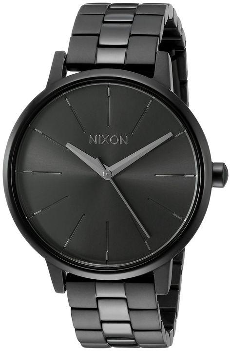 Nixon Women's A099001-00 Kensington Analog Display Japanese Quartz Black Watch…