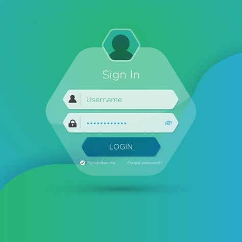 Flat Login User Interface, Icon, Password, User PNG and Vector with Transparent Background for Free Download