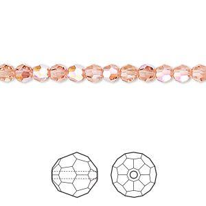 5000 Swarovski® Crystal Beads Round Rose Peach Shimmer