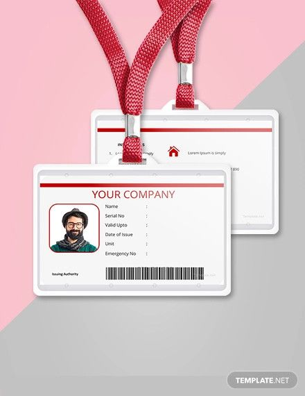 Free Vertical Blank Id Card Template Id Card Template Blank Id Cards Card Template