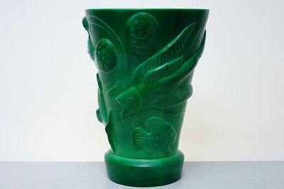 Vase with Dancing Naked Women-Curt Schlevogt GABLONZ