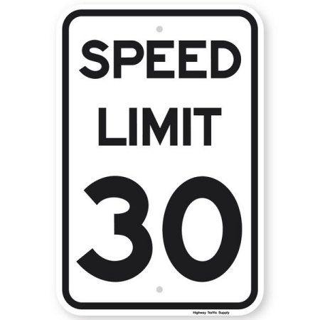 Speed Limit 30 Mph Sign 24 X30 3m Diamond Grade Prismatic