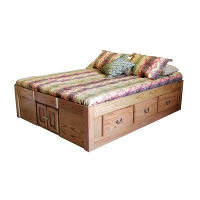 Loon Peak Kuhn Queen Solid Wood Storage Platform Bed Wood Solid Wood In Antique Alder Size 2 In 2021 Platform Bed Designs Solid Wood Platform Bed Queen Platform Bed Solid wood queen storage bed