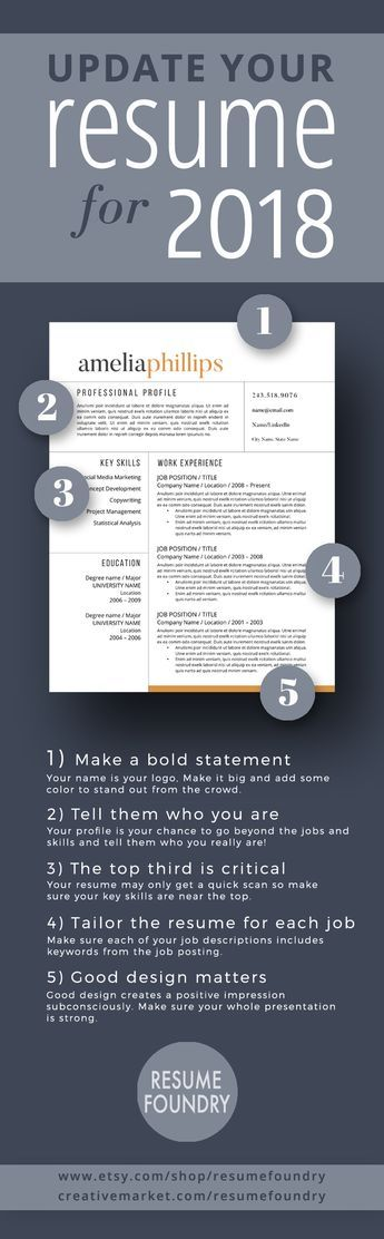 This resume template will stand-out from the sea of applicants