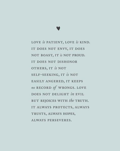 Love is patient love is kind Corinthians 13:4-8 wedding | Etsy