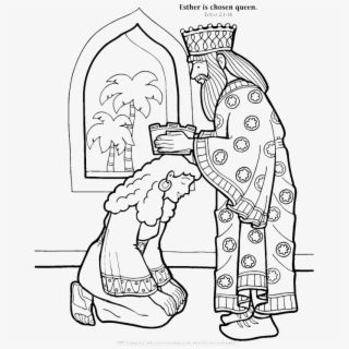 Esther Chosen To Be Queen Coloring Page Bible Coloring Pages Bible Crafts Queen Esther Crafts