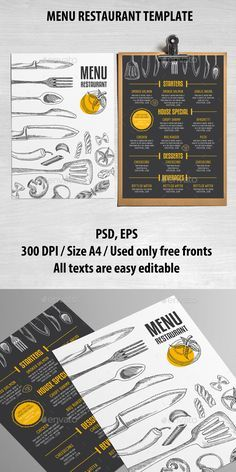 Menus Templates Free Pinnixon On Mrf2  Pinterest  Menu And Typography