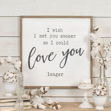 White, Brown and Black Love You Longer Wooden Sign