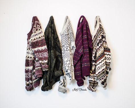 Pull Oversized Vintage mystère clouté Hipster Cosby à motifs Tribal aztèque de pulls géométrique