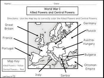 Students Will Learn And Research About World War I Graphic Organizers Will Help Students Organize Informati Reading Graphic Organizers World War Allied Powers