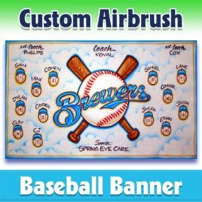 Baseball Banner Brewers 1001 In 2020 Baseball Banner Team Banner Baseball Team Banner