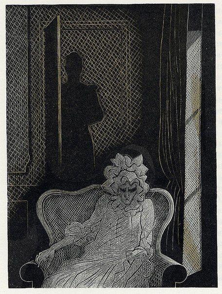 The Queen Of Spades Alexander Pushkin Gennady Dmitrievich Epifanov Russian Graphic Artist 1900 1985