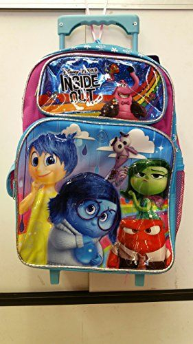 "Licensed NEW Disney Inside Out Large 16/"" inches Rolling Backpack /& Lunch Box"