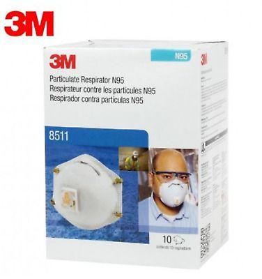 Ad Ebay 3m 8511 Particulate N95 Respirator Mask Filter Valve 60