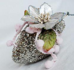 Glittery Wallflower Ornament from @Michele Kovack