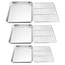 Teamfar Baking Sheet With Rack Set Stainless Steel Cookie Sheet