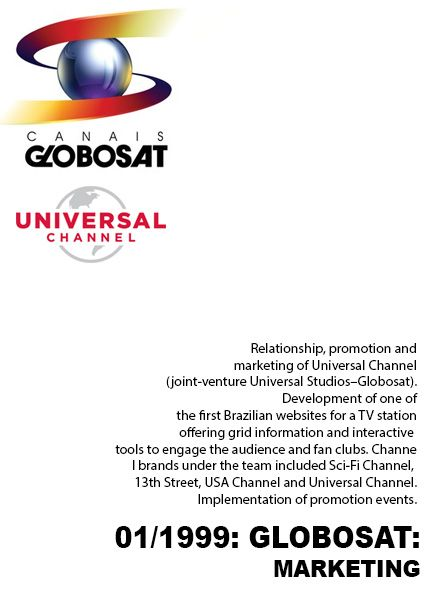 Globosat experience on TV content marketing Resume Pinterest - tv promotion director resume