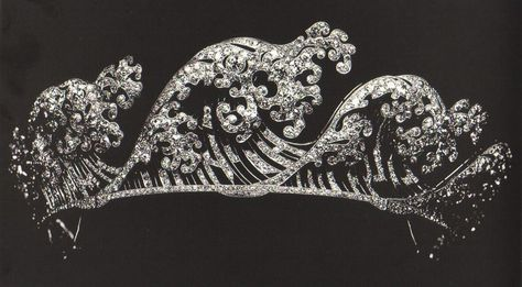 Boucheron Wave Tiara, circa 1910, via Jewels du Jour